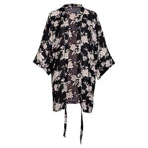 Spiritual Gangster Black Floral Maya Kimono
